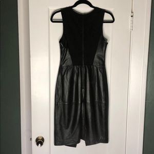 Knee length, real leather LBD from Nordstrom.